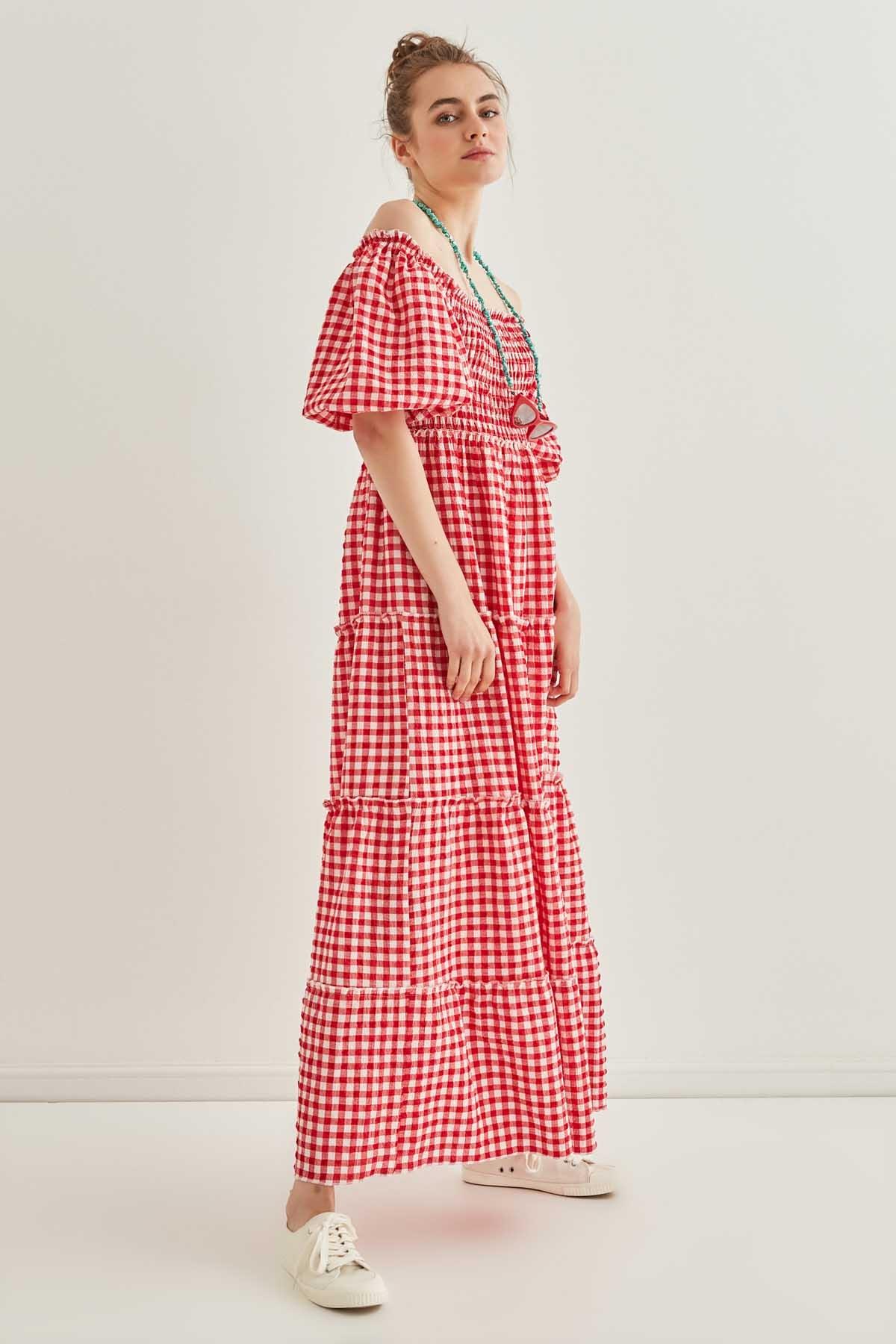 Pötikare Gipeli Uzun Country Elbise - Thumbnail